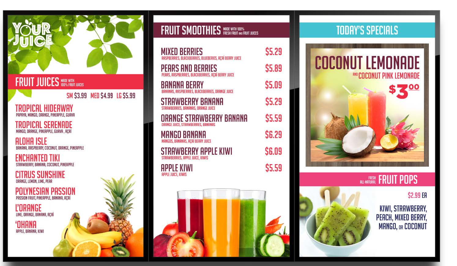 Image of Digital Menu Board