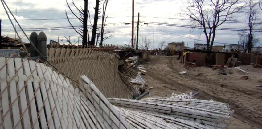 Hurricane destruction